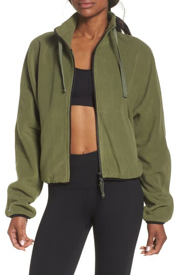 Free People Fp Movement Higher Ground Fleece Jacket, Green