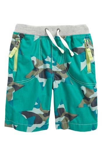 Boy's Mini Boden Adventure Shorts, Size 9Y - Green
