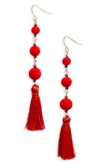 Women's Bp. Pompom Tassel Earrings