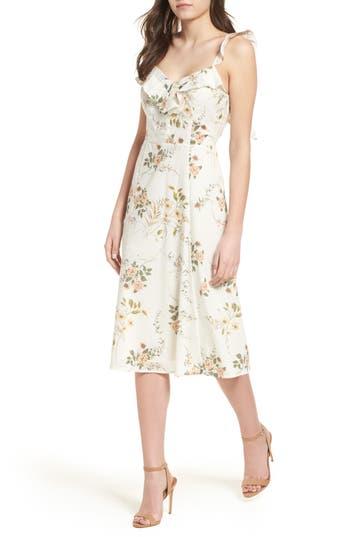 JUNE & HUDSON RUFFLE FIT & FLARE DRESS