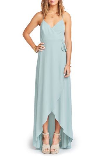 Women's Show Me Your Mumu Mariah Wrap Maxi Dress, Size XX-Small - Blue