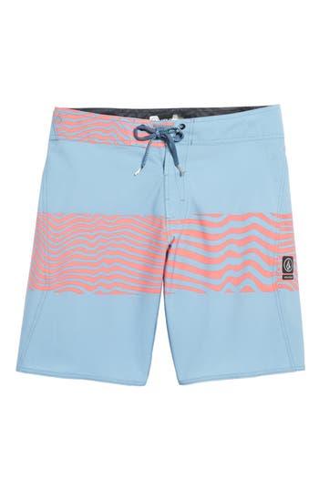 Volcom Macaw Faded Mod Board Shorts, Blue