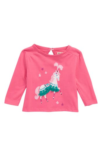 Infant Girl's Hatley Parade Horse Tee, Size 3-6M - Pink