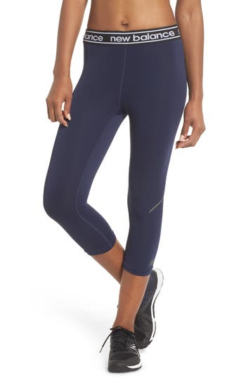 New Balance Accelerate Capri Leggings, Black