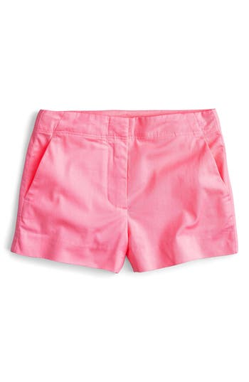 Girl's Crewcuts By J.crew Frankie Stretch Cotton Shorts, Size 4 - Pink