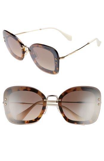 Miu Miu 65Mm Gradient Oversize Sunglasses - Lite Havana