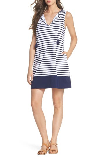 Tommy Bahama Channel Surfing Cover-Up Dress, Blue