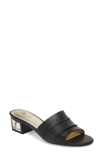 Women's Adrianna Papell Tiana Block Heel Slide Sandal, Size 5.5 M - Black