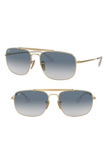 Ray-Ban The Colonel 61Mm Aviator Sunglasses - Silver