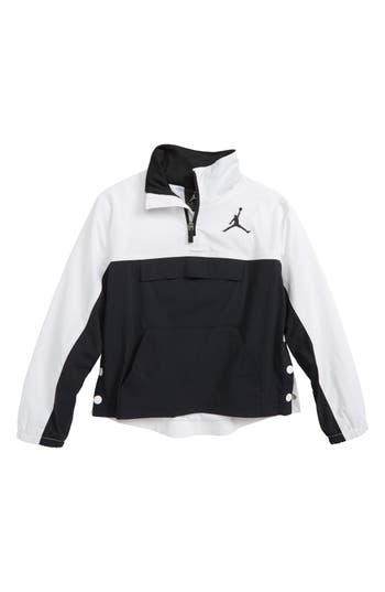 Boys Jordan Aj 90S Popover Quarter Zip Pullover Size 7  Black