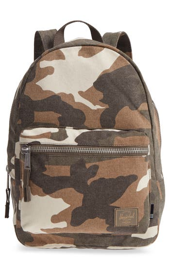 Herschel Supply Co. X-Small Grove Cotton Canvas Backpack - Green