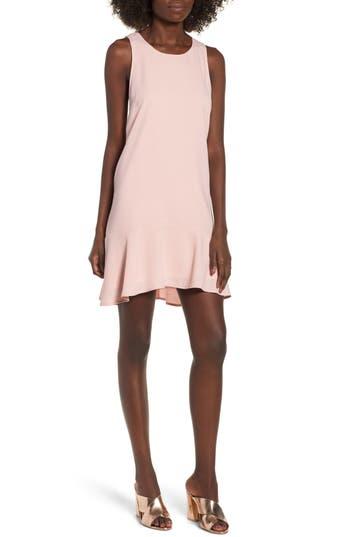 Leith Flounce Hem Dress, Pink