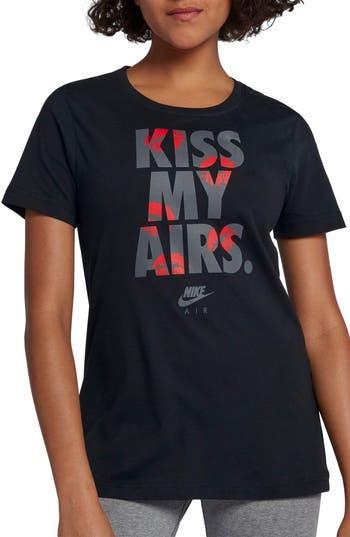 Nike Sportswear Kiss My Airs Crewneck Tee, Black