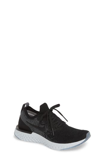 Boys Nike Epic React Flyknit Running Shoe Size 4 M  Black