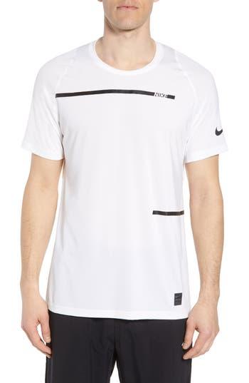 Men's Nike Pro Dry Logo T-Shirt, Size Small - White