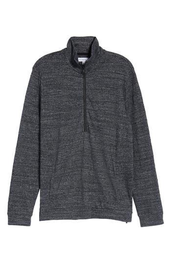 Calibrate Textured Zip Fleece Sweatshirt, Black