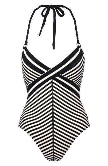 Robin Piccone Carmen One-Piece Swimsuit, Black