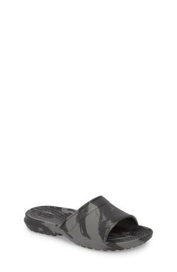 Boys Crocs TM Classic Swirl Slide Size 6 M  Black