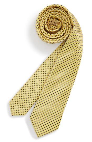 Boys Nordstrom Diamonds  Dots Print Silk Tie Size Big Boy  Yellow