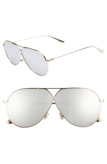 Christian Dior 65Mm Aviator Sunglasses - Gold