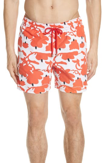 Vilebrequin Donald Sultan Swim Trunks, White