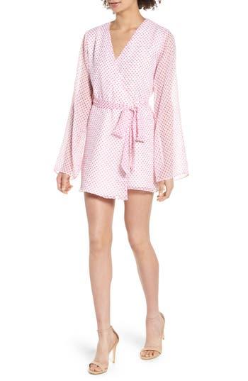 Lovers + Friends Brunching Short Robe, Pink