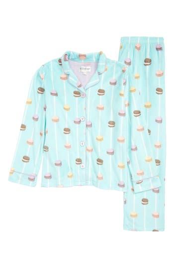 Girls Pj Salvage Long Sleeve Notch Collar Pajamas