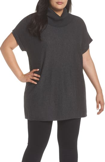 Plus Size Women's Vince Camuto Short Sleeve Turtleneck Sweater