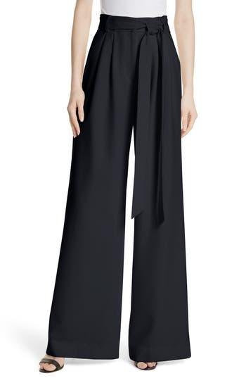 Milly Italian Cady Trapunto Tie Waist Trousers