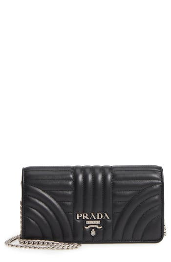 Prada Quilted Leather Wallet on a Chain