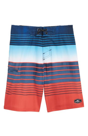 Boys ONeill Hyperfreak Heist Board Shorts Size S  4  Red