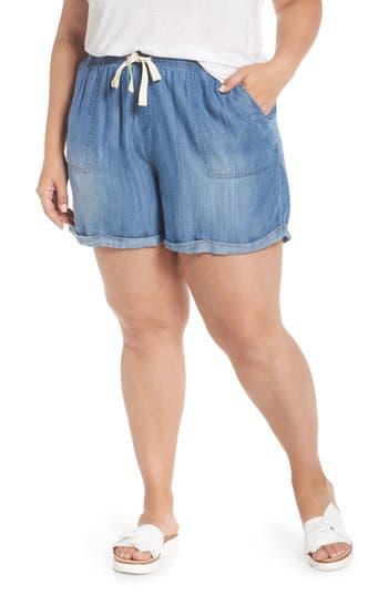 Drawstring Chambray Shorts
