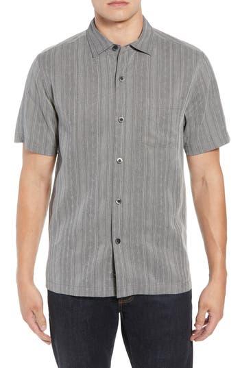 Tommy Bahama San Ramone Regular Fit Stripe Silk Shirt