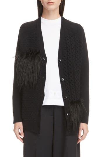 Simone Rocha Patchwork Merino Wool & Cashmere Cardigan