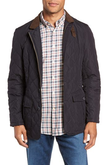 Men's Barbour Lutz Quilted Jacket, Size Small - Blue
