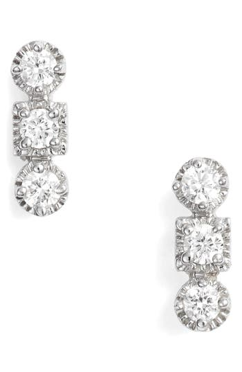 Bony Levy Maya 3-Stone Stud Earrings