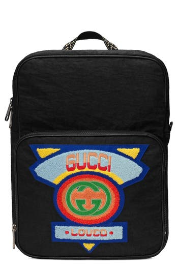 Gucci Patch Backpack