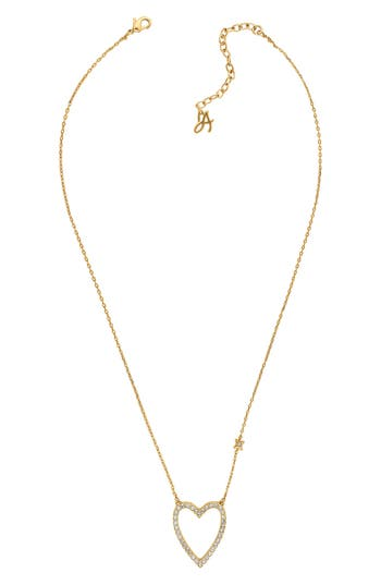 ADORE CRYSTAL POINTED HEART NECKLACE