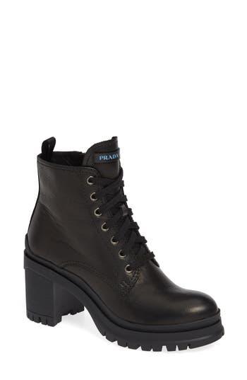 Prada Block Heel Combat Boot