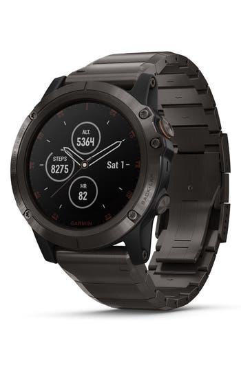 Garmin fenix® 5X Plus Sapphire Premium Multisport GPS Watch, 51mm
