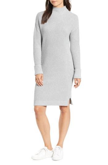 Caslon® Ribbed Sweater Dress
