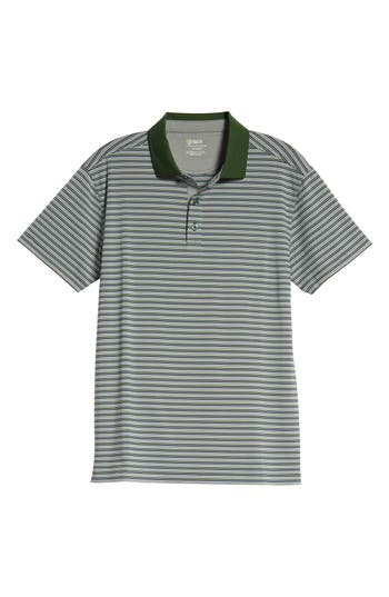 BOBBY JONES RULE 83 STRIPE TECH JERSEY POLO