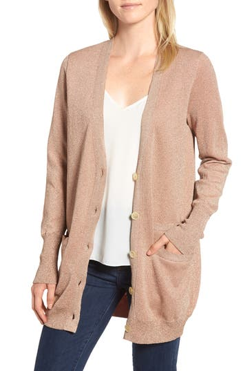 J.Crew Collection Long Cardigan in Double Knit Lurex®