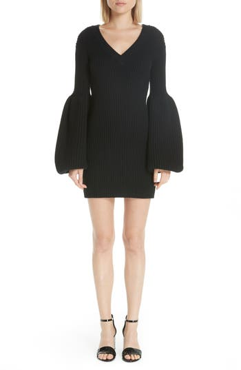 Alexander Wang Puff Sleeve Sweater Dress