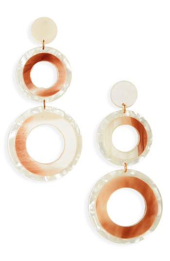 Leith Resin Double Circle Drop Earrings