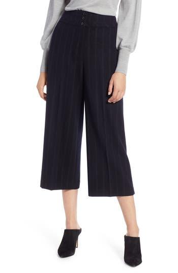 Halogen® Stripe Wide Leg Crop Suit Pants