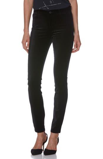 PAIGE Transcend - Hoxton High Waist Ultra Skinny Velvet Pants