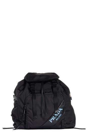 Prada Tessuto & Calfskin Leather Backpack