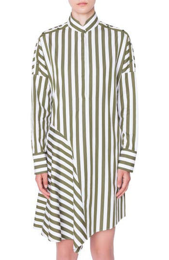 Akris punto Stripe Cotton Shirtdress