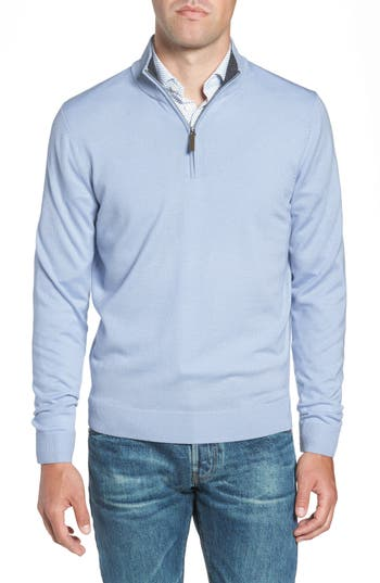 Nordstrom Men's Shop Quarter Zip Merino Wool Pullover